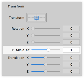 Updated Scale Transform Inspector